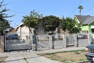 Los Angeles Single Family Home For Sale: 9415 S Figueroa Street