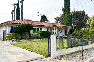 West Covina Single Family Home For Sale: 1804 E Linda Vista Street