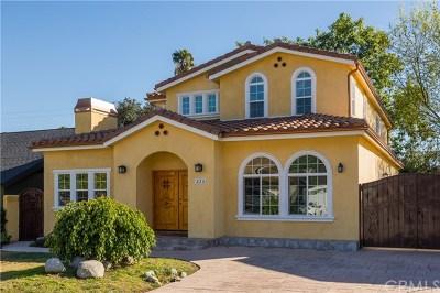 Arcadia Single Family Home For Sale: 226 E Forest Avenue