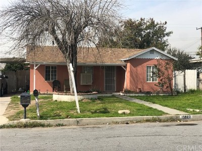 Fontana Single Family Home For Sale: 15922 Rosemary Drive
