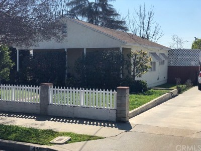 San Gabriel Single Family Home For Sale: 410 Sunset Avenue