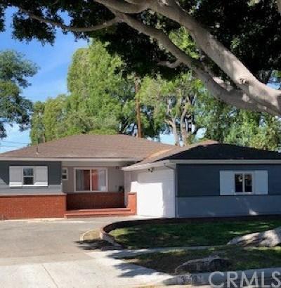 Long Beach Single Family Home For Sale: 3609 E Allington Street