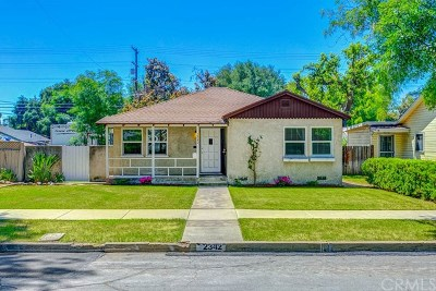 La Verne Single Family Home Active Under Contract: 2342 6th Street