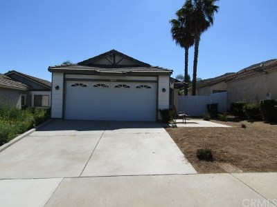 Menifee Single Family Home For Sale: 27842 Cannon Drive