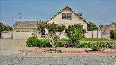 Covina Single Family Home For Sale: 650 N Stephora Avenue