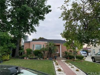 San Gabriel Single Family Home For Sale: 1031 Bilton Way