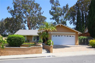 Mission Viejo CA Single Family Home For Sale: $720,000