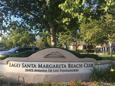 Rancho Santa Margarita Condo/Townhouse For Sale: 2 Montana Del Lago Drive
