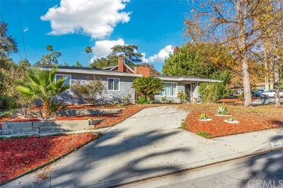 Sierra Madre Single Family Home For Sale: 125 N Canon Avenue
