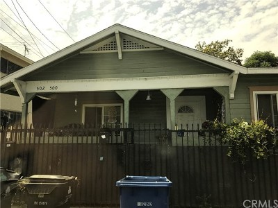 Los Angeles Multi Family Home Active Under Contract: 500 E 49th Street