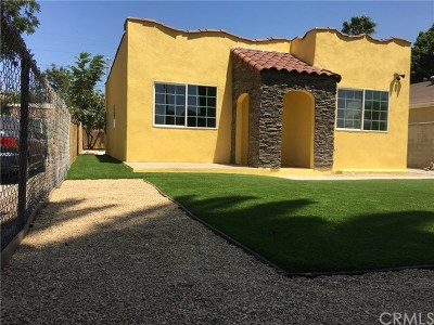 Los Angeles Single Family Home Active Under Contract: 831 W 105th Street