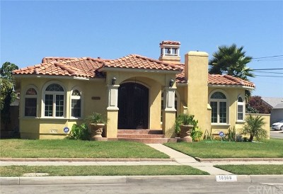 Downey Single Family Home For Sale: 10568 Wiley Burke Avenue