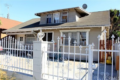 Los Angeles Single Family Home For Sale: 326 W Gage Avenue