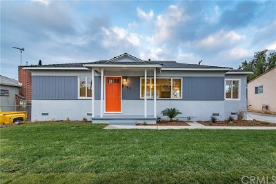 North Hollywood Single Family Home For Sale: 8143 Teesdale Avenue