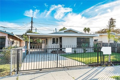 Los Angeles Single Family Home For Sale: 1454 W 71st Street
