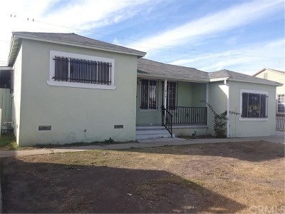 Compton Single Family Home For Sale: 1415 S Cliveden Avenue