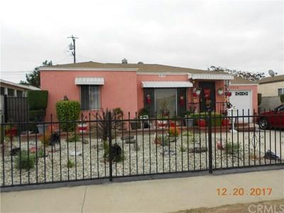 Compton Single Family Home For Sale: 14318 S Corlett Avenue