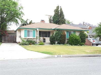 Whittier Single Family Home For Sale: 16048 Haldane Street