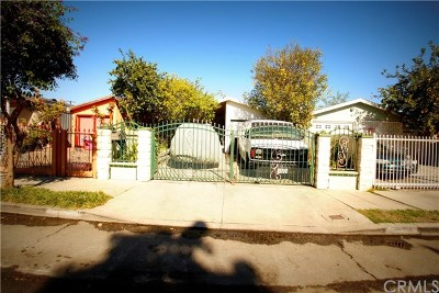 Los Angeles Single Family Home Active Under Contract: 2101 E 112th Street