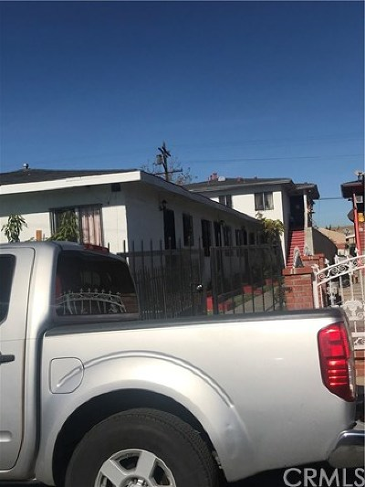 Los Angeles Single Family Home For Sale: 1031 W 102nd Street
