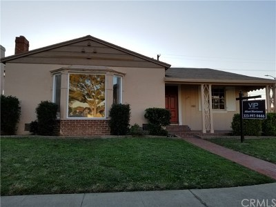 Los Angeles Single Family Home For Sale: 8101 S Mariposa Avenue