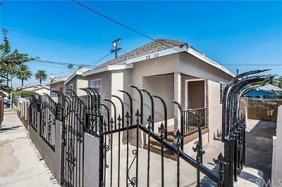 Los Angeles Single Family Home For Sale: 219 E 52nd Street