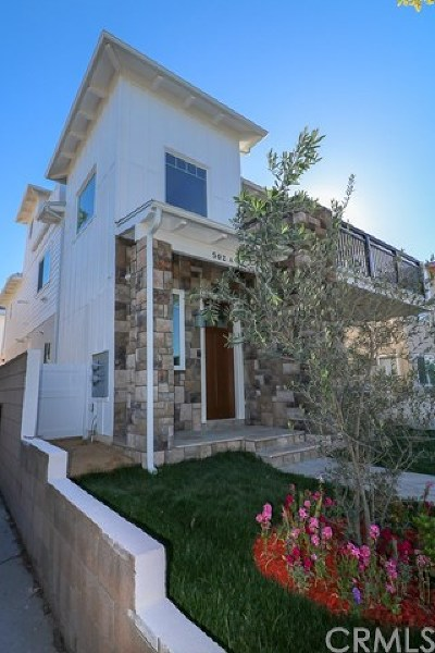 Redondo Beach Condo/Townhouse For Sale: 502 N Francisca Avenue #A