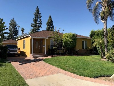 Downey Single Family Home Active Under Contract: 8545 Parrot Avenue