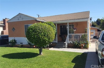 La Puente Single Family Home For Sale: 15704 Hill Street