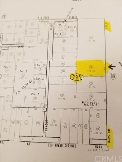 Lucerne Valley Residential Lots & Land For Sale: Barstow