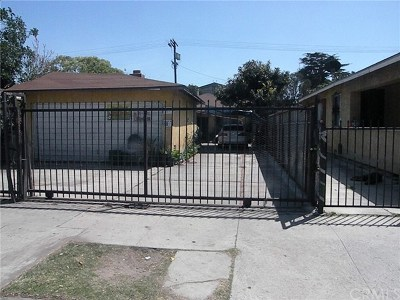 Los Angeles Single Family Home For Sale: 126 W Gage Avenue