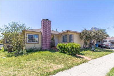 Compton Single Family Home For Sale: 1607 N Willow Avenue