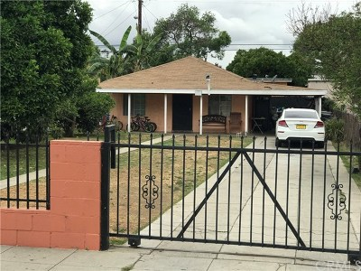 Lynwood Single Family Home For Sale: 11137 Pope Avenue