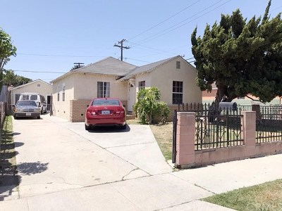 Lynwood Single Family Home Active Under Contract: 10951 San Miguel Avenue