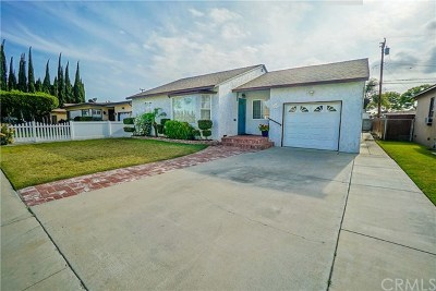Downey CA Single Family Home For Sale: $615,000