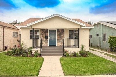Los Angeles Single Family Home For Sale: 1655 W 65th Street