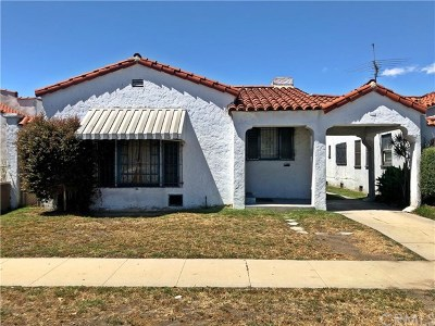 Los Angeles Single Family Home For Sale: 831 E 82nd Street