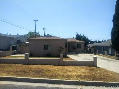 La Puente Single Family Home For Sale: 210 Shay Avenue
