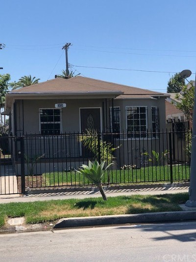 Los Angeles Single Family Home For Sale: 1414 W 54th