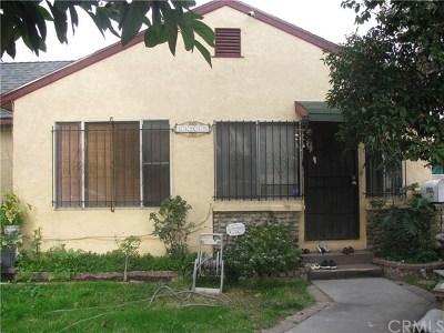 El Monte Single Family Home For Sale: 11915 McGirk Avenue