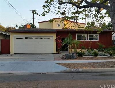 Long Beach Single Family Home For Sale: 5234 E Killdee Street