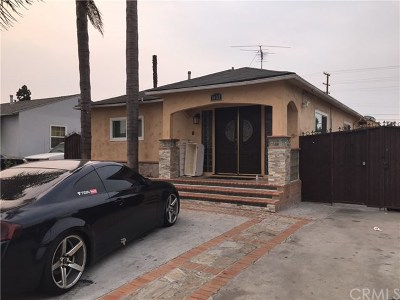 Compton Single Family Home For Sale: 1633 E 124th Street