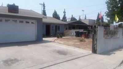 Paramount Single Family Home For Sale: 8334 Bilbarn Street
