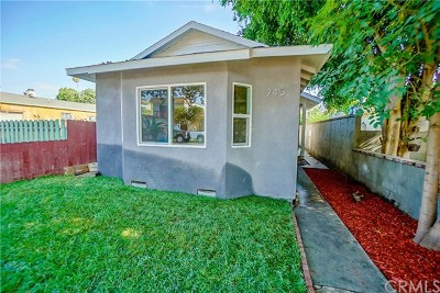 Long Beach Single Family Home For Sale: 245 E Sunset Street