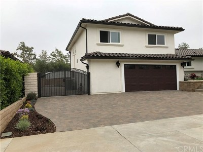 Hacienda Heights Single Family Home For Sale: 1730 Old Canyon Drive