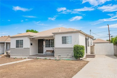 Whittier Single Family Home For Sale: 14225 Close Street