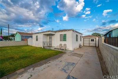 Compton Single Family Home Active Under Contract: 16306 S Pannes Avenue