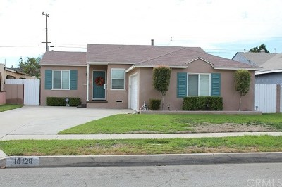 Norwalk Single Family Home For Sale: 15129 Bechard Avenue