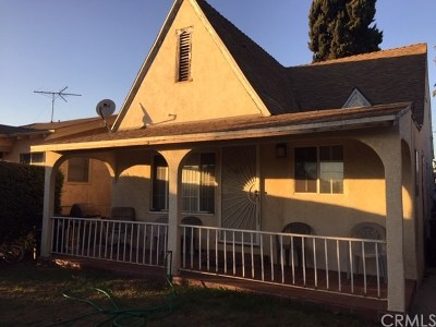 Los Angeles Single Family Home For Sale: 1519 W 59th Street