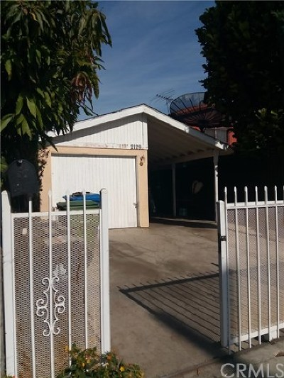Los Angeles Single Family Home For Sale: 2129 E 112th Street